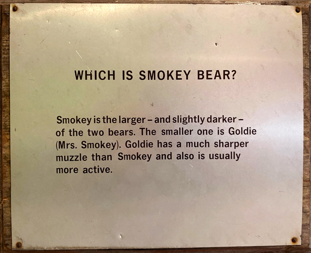 old sign about smokey bear